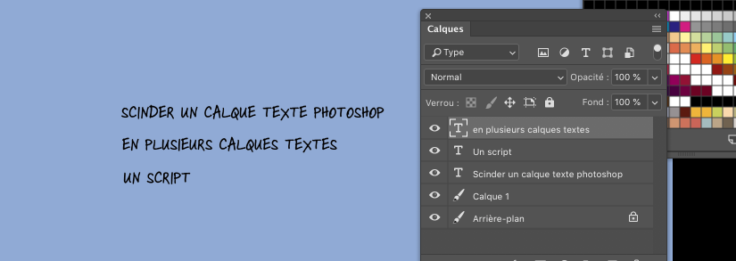 Split Text Photoshop