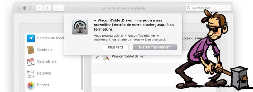 Wacom et MacOS