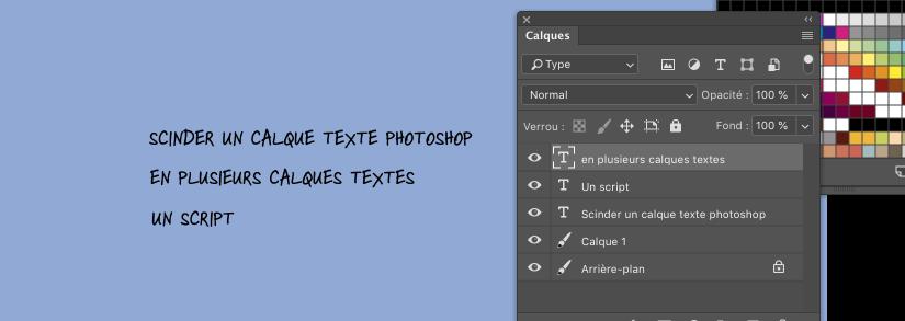 Split Text Photoshop